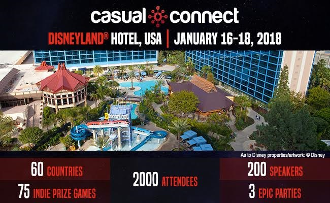Casual​ ​Connect​ ​USA​ ​coming​ ​to​ ​California's​ ​​Disneyland​®​ ​​Hotel​ ​this​ ​January