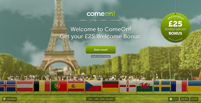 Online bookmaker ComeOn! review and rating  Live sports